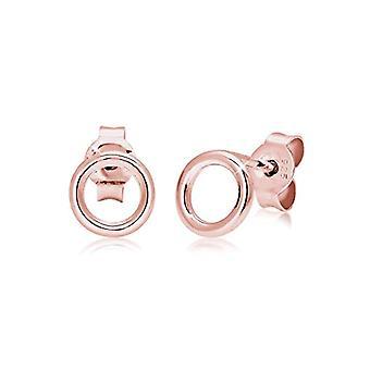 Boucles d'oreilles Elli pour femme, simples cerceaux de style géométrique minimal, en argent sterling 925