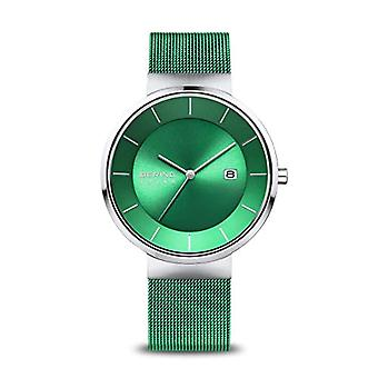 BERING Men's Solar Watch with Stainless Steel Strap 14639-Charity