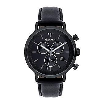 Gigandet G6-007 - Men's watch, leather strap, color: black