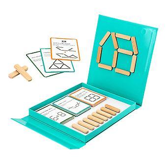 Drewniane jigsaw magnetic thinking ice cream stick puzzle gry dwustronne karty Wyzwanie