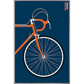 JUNIQE Print - Ikoner Crescent Front - Fordon Affisch i Blått & Orange