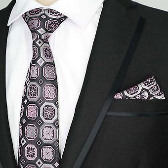 Aubergine & vaaleanpunainen miesten Hanky puolue taskussa neliö