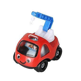 الأحمر الفتيان والفتيات مصغرة الكرتون الهندسة مركبة الجمود carchildren لطيف سيارة نموذج التعليمية لعبة هدية x4567