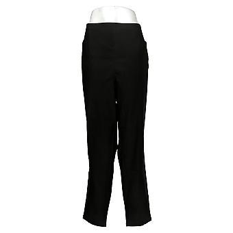 DG2 Af Diane Gilman Kvinders Plus Bukser ShapeTech Pull-On Slim Black 731928