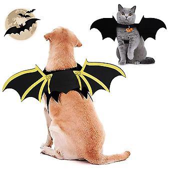 Vestiti per animali domestici halloween cane cane pipistrello ali trasformazione abbigliamento