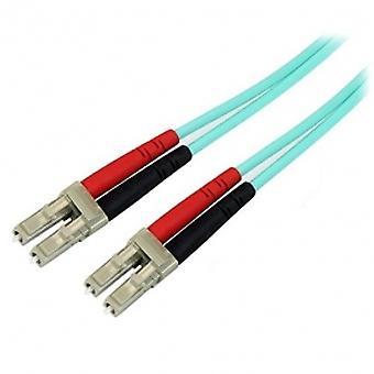 5m 10 Gb Aqua Multimode 50/125 Dupleks LSZH Kabel światłowodowy LC - LC