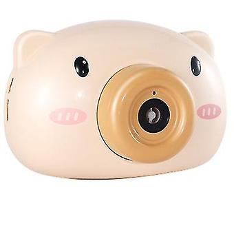 Žltá automatická roztomilá karikatúra, tvar prasačej kamery - bublinkový stroj az10079