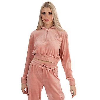 Women's Fila Aaral Velour Zip Hoody in Pink