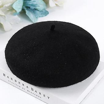 Winter Warm- Soft Casual, Süße Wolle, Barett Kürbis, Flache Kappe (verstellbar)