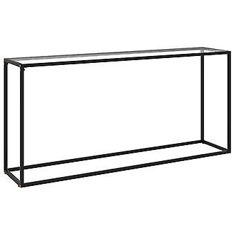 vidaXL transparent console 160x35x75 cm verre trempé