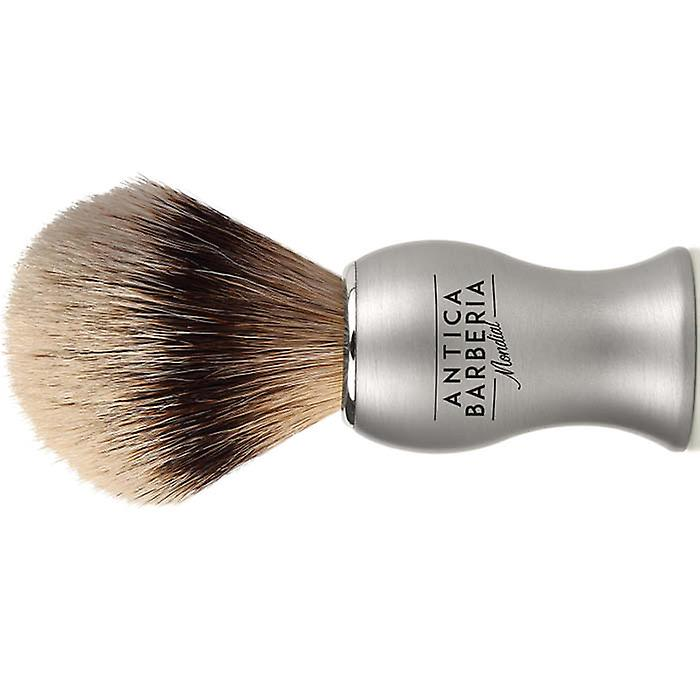 Antica Barberia Super Badger Shaving Brush Silver Metal