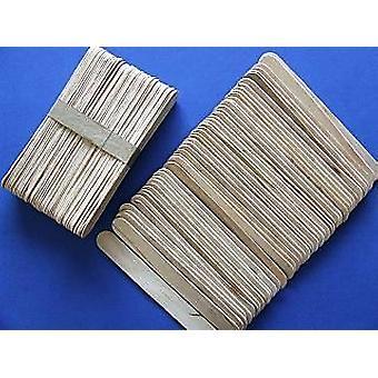 50 Grands bâtons en bois naturel de 15cm de Lolly pour l'artisanat