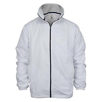 Kookaburra Mens Umpires Rain Jacket Full Zip Long Sleeve Integral Pockets Top