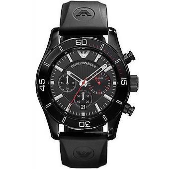 Emporio Armani AR5948 Black & Silver Chronograph Dial Sportivo Watch