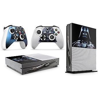 GNG 2 x Vader kompatibel med Xbox One S Controller Skins Full Wrap Vinyl Klistermärke