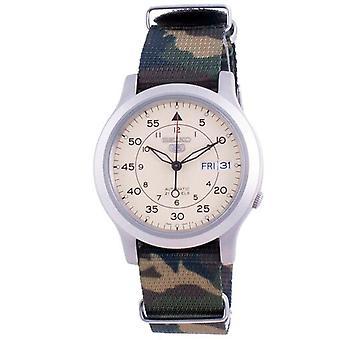 Seiko 5 Военные Snk803k2-var-natos18 Автоматический нейлоновый ремешок Мужские часы