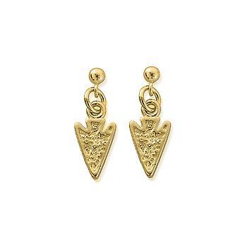ChloBo Gold Arrow Head Drop Earrings GEST4008