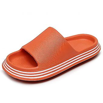 Orange 36-37 pillow slides slippers home soft thick soled sandals anti slip quick drying shower shoes lc320