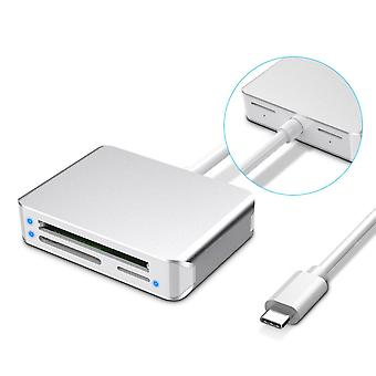 Multifunction Card Reader All-in-one Usb3.0 Card Reader Cf / Sd / Tf Card Reader Type-c