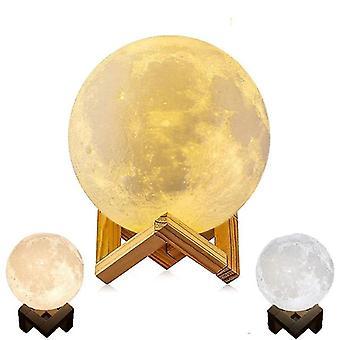 Drukowanie 3D Touch Light Moon Lamp z drewnianym stojakiem