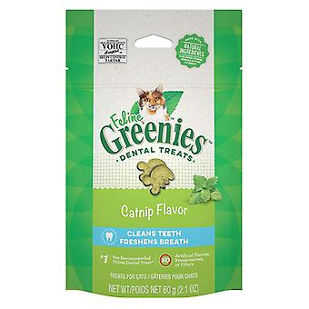 Greenies Feline Natural Dental Treats Catnip Flavor - 2.1 oz