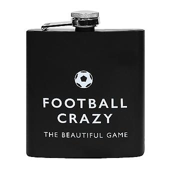 Football Crazy 6oz Hip Flask