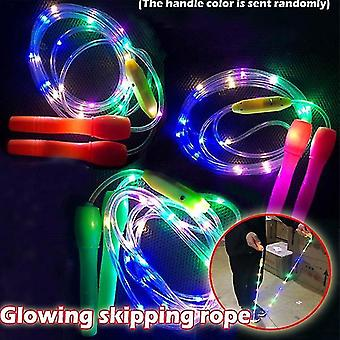 Jump ropes kinder led-licht fitness springseil random color