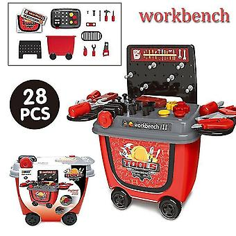 Toy kitchens play food workbench-28pcs set kids simulation ice cream shop role play toy set
