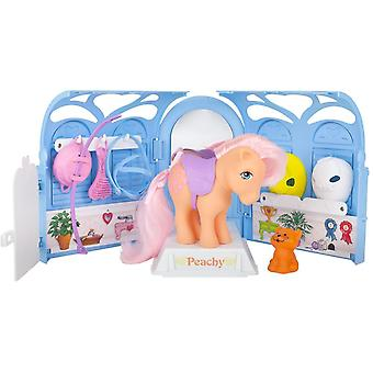 Puppets marionettes my little pony my retro pretty parlor playset  includes peachy