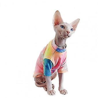 Neues Mode-Haustierhemd mehrfarbig hautfreundliche Baumwolle Katze zweibeiniges T-Shirt für Sommerhunde