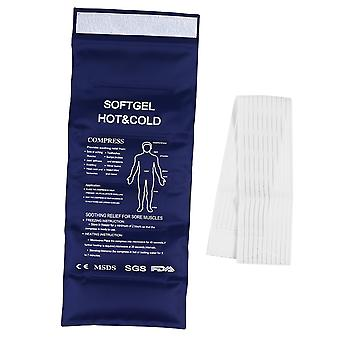 Reusable Hot And Cold Pack Therapy Gel Pack With Strap Alleviate Joint And Muscle Pain For Back Ankle Shoulder Knee Waist Calves (dark Blue)