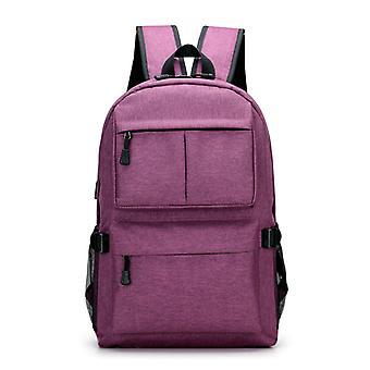 Grand sac à dos durable avec port USB-violet