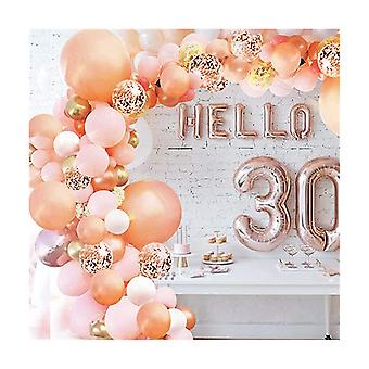 Ruusukultainen ilmapallo garland arch kit kulta konfetti lateksi ilmapalloja vauvan suihku häät syntymäpäivä