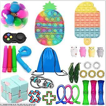 Sensory Decompression Toy Set Puzzle Diy Combination Toys -43