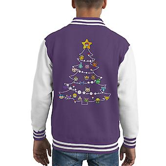 Pokemon Bulbs Christmas Tree Kid's Varsity Jacket