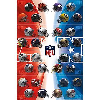 NFL - hjälmar 14 affisch Skriv