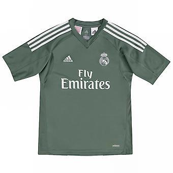 2017-2018 Real Madrid Adidas Ev Kaleci forması (Çocuk)
