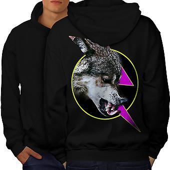Gratis Animal lobo hombres enojados BlackHoodie espalda | Wellcoda