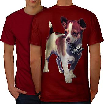 Puppy Cute Pup Animal Men RedT-shirt Back | Wellcoda