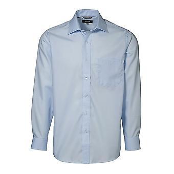 ID Mens Easy Iron Exclusive Poplin Regular Fitting Long Sleeve Shirt