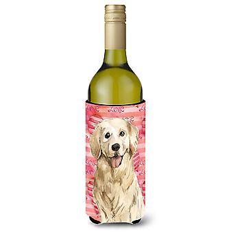 Amor de un perro perdiguero de oro botella de vino Beverge aislador Hugger