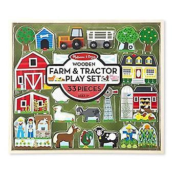 Melissa & Doug houten boerderij & trekker Play Set (33-DLG)