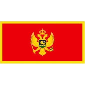 Montenegro 2006 betreffende vlag 5 ft x 3 ft met oogjes voor verkeerd-om