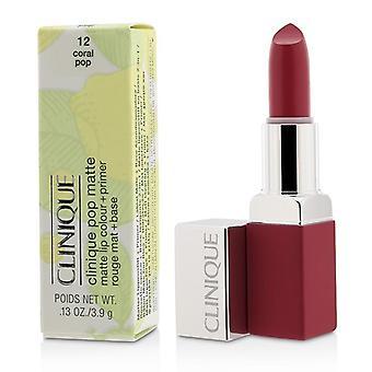 Clinique Pop matta huuli väri + Primer - # 12 Coral Pop - 3.9g/0.13oz