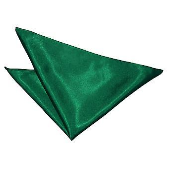Emerald Green oformaterad Satin Pocket Square