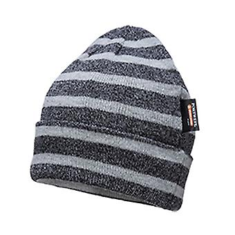 Portwest Mens Insulatex Microfibre Lined Stripe Knit Beanie