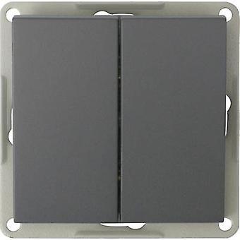 GAO Insert Twin toggle switch Modul Black EFP200A