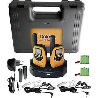 DeTeWe utendørs 8000 Duo tilfelle 208046 PMR håndholdte transceiver 2-brikke settet