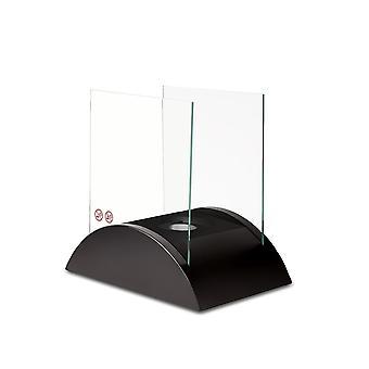 Таблица этанол камин огонь огнем чаша с защитой стеклянных дисков и удалите крышку черный