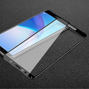 Para Huawei Y5 2018 2x 3D premium 0,3 mm proteção de slide preto de vidro duro H9 cobrir novo
